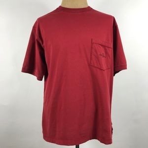 Tommy Bahama Men's Red Short Sleeve T shirt Large
